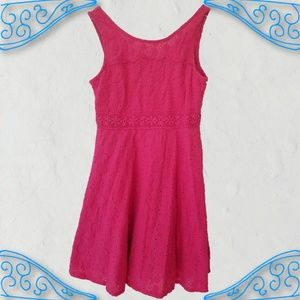 Guess Girl's Pink Lace Tank Dress Summer